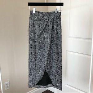 B&W Wrap Skirt